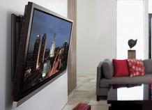 Телевизор и предметы мебели в современном интерьере